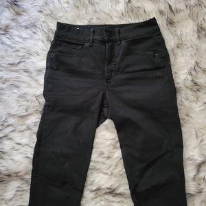 Express black high rise ankle leggings jeans 0R